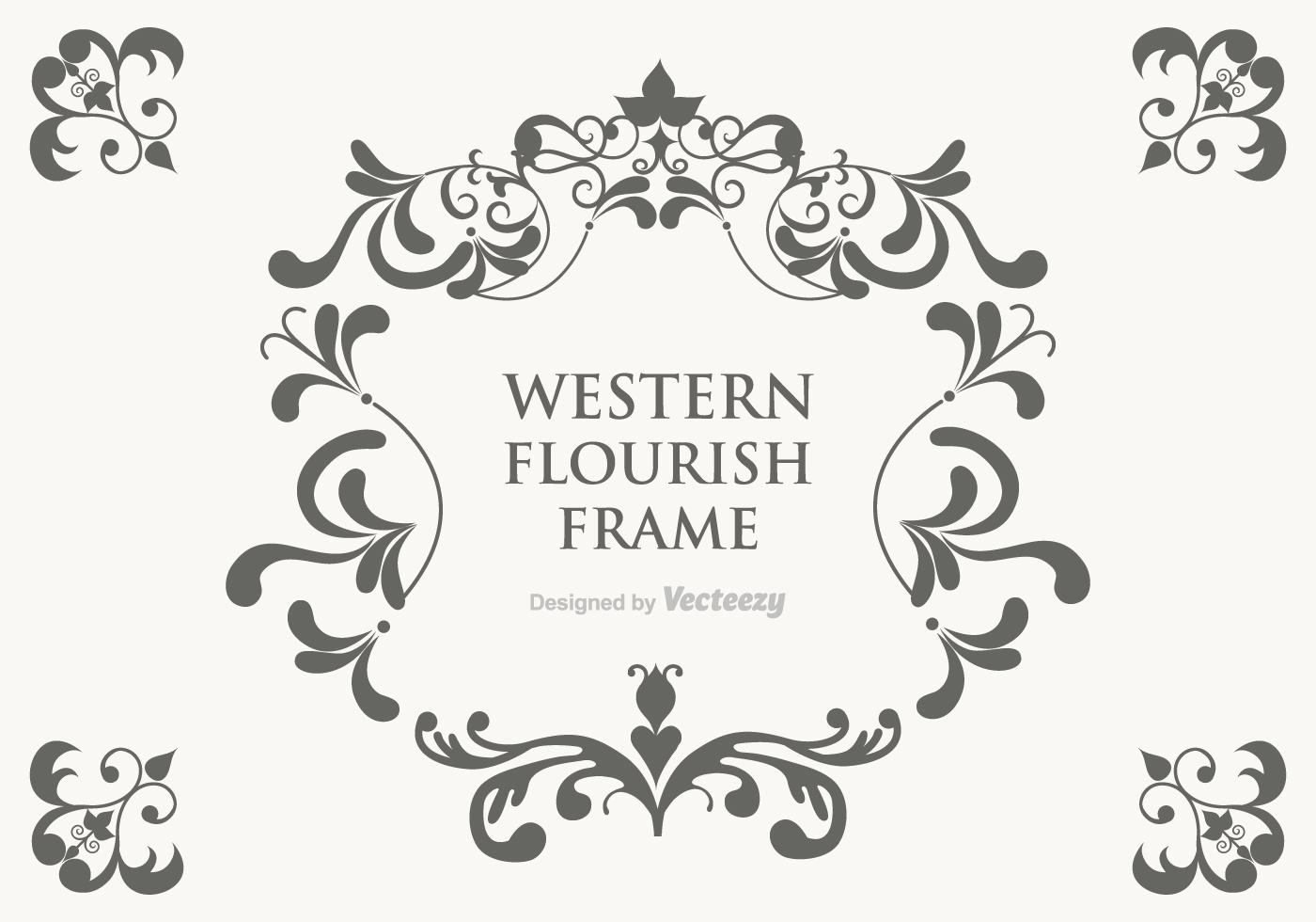 Vector Western Flourish Frame - Download Free Vector Art ...