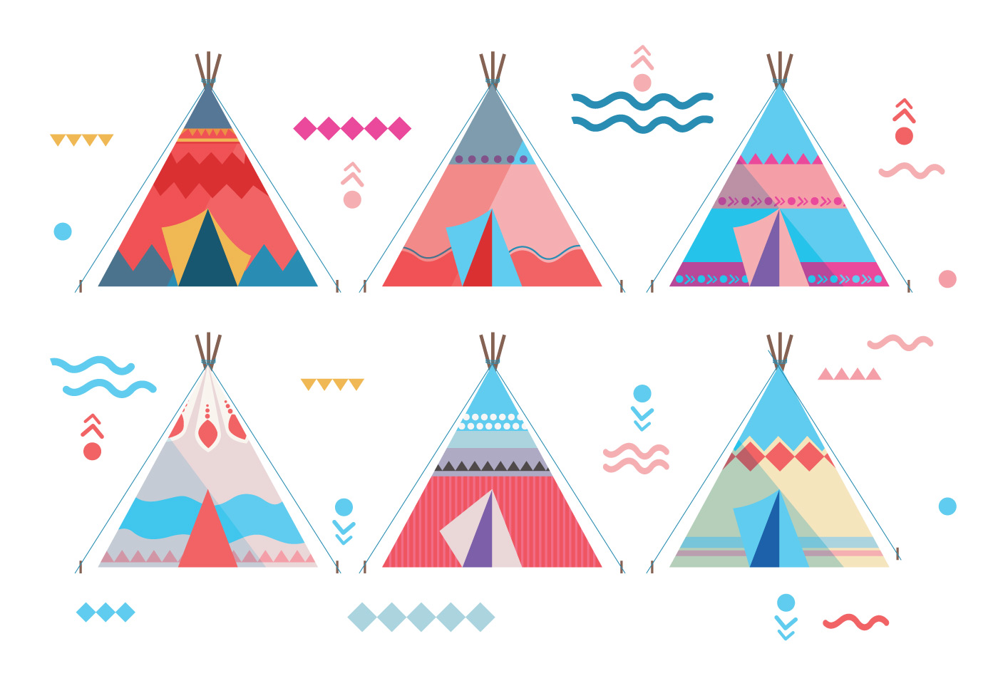 teepee vectors download free vector art stock graphics images. Black Bedroom Furniture Sets. Home Design Ideas