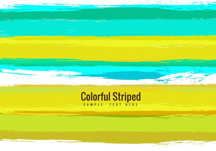 Vector Colorful Striped Free Background