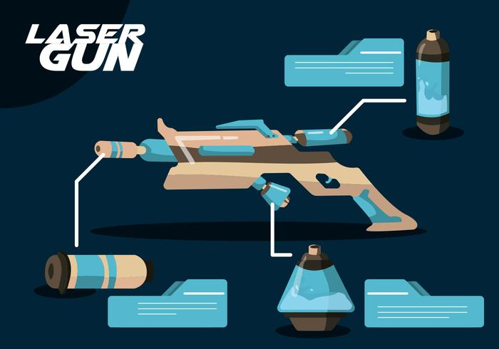 Laser Gun Vektor Set