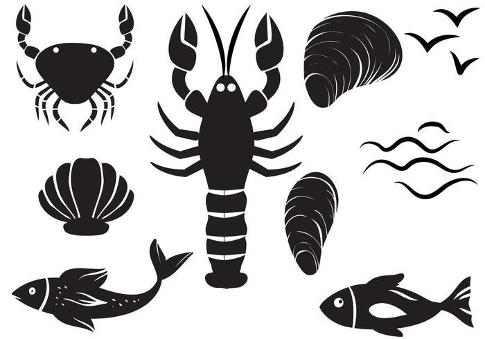 Vetores de frutos do mar gratuitos