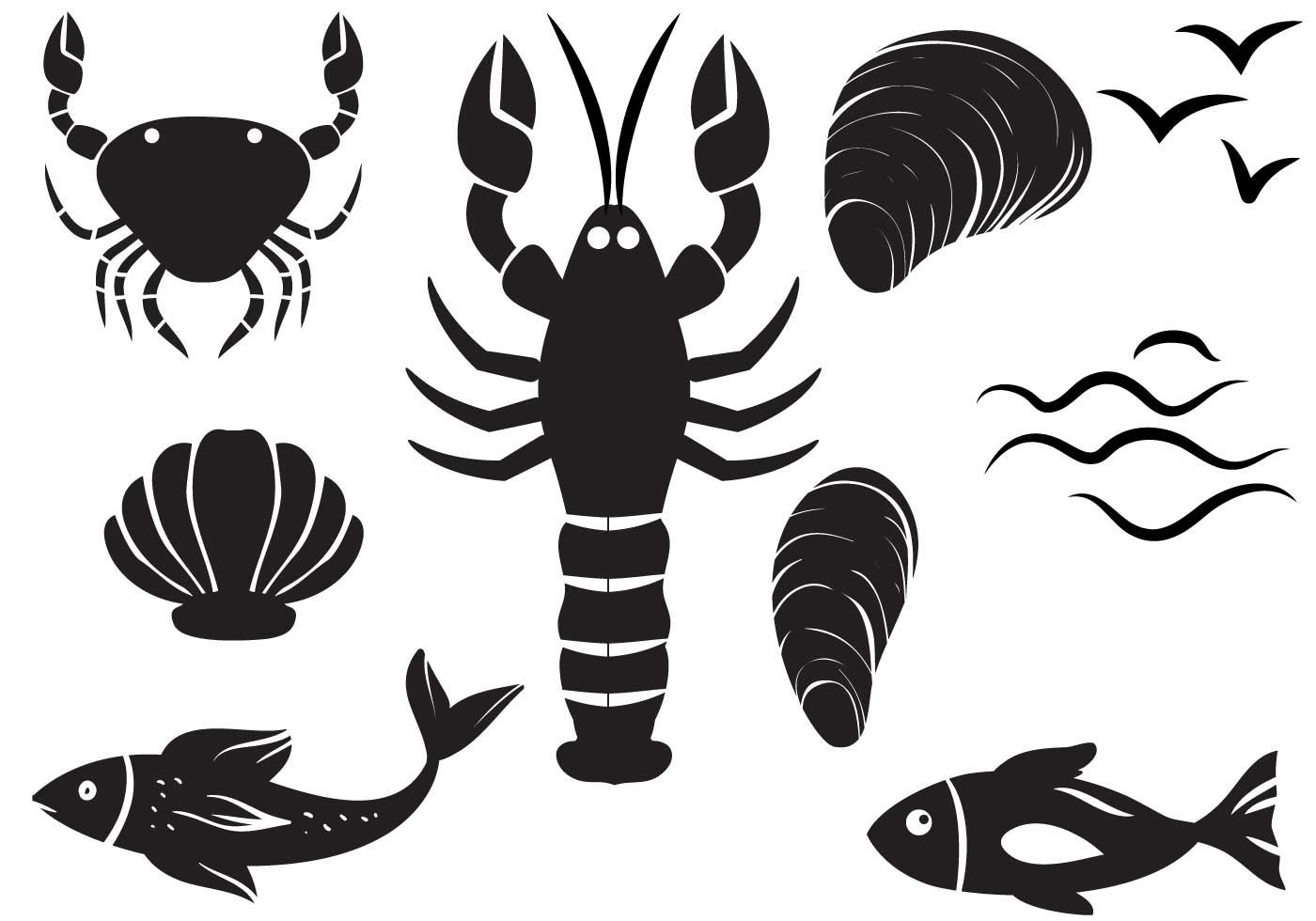 Free seafood vectors download free vector art stock for Art et cuisine chaudron line
