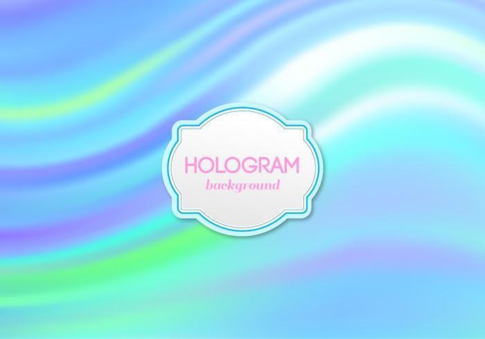 Sfondo di ologramma blu vettoriale gratuito