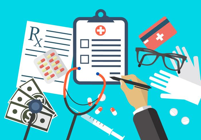 Flat Medical Illustrations vector