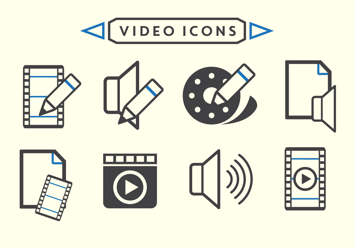 Video Editing Vectors Download Free Vector Art Stock