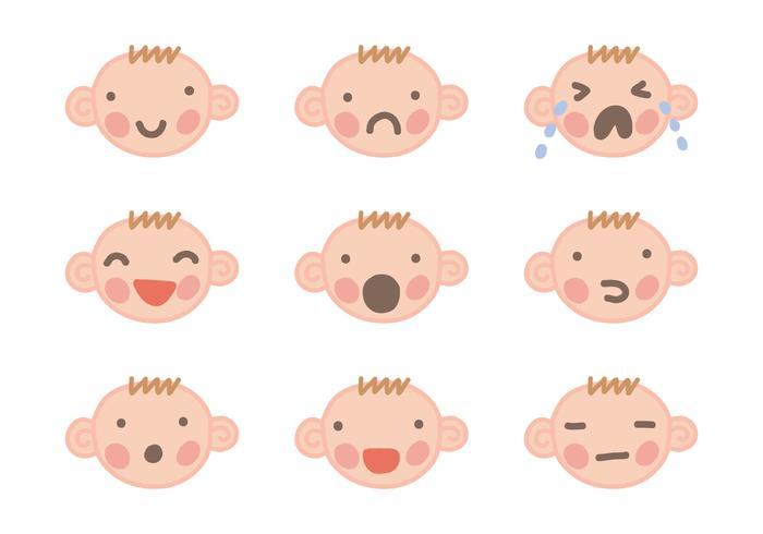 Vecteurs de visage bébé