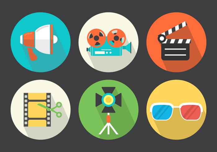 Iconos De Video Vector