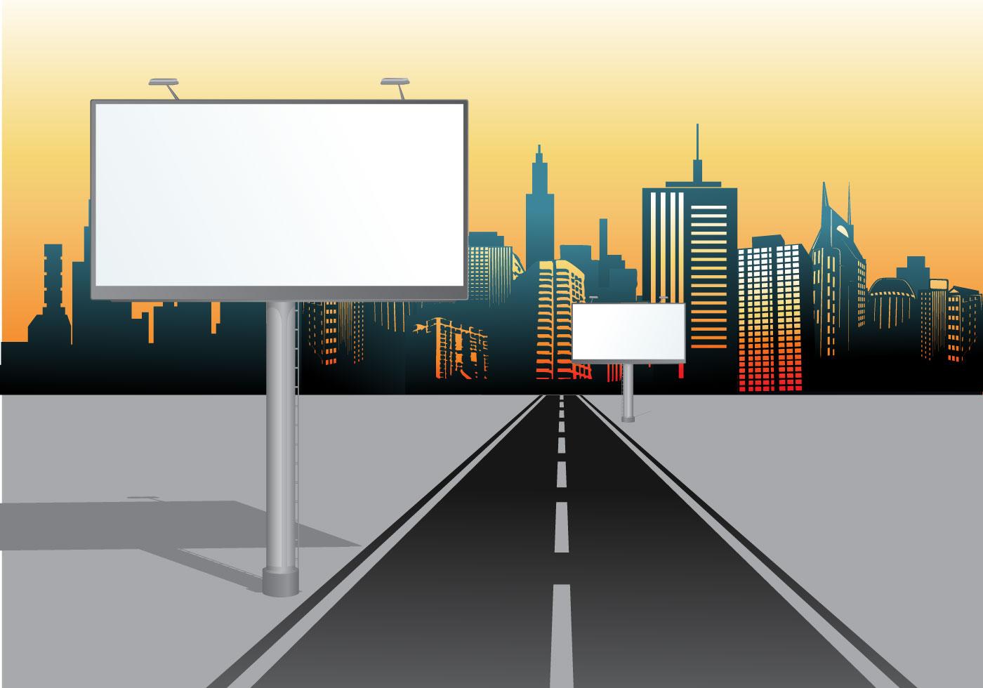 urban billboard vector hoarding