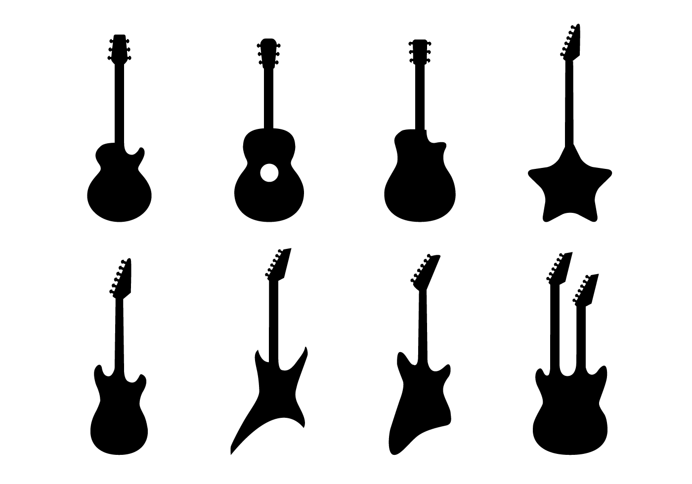 Free Guitar Vector - Download Free Vector Art, Stock Graphics & Images
