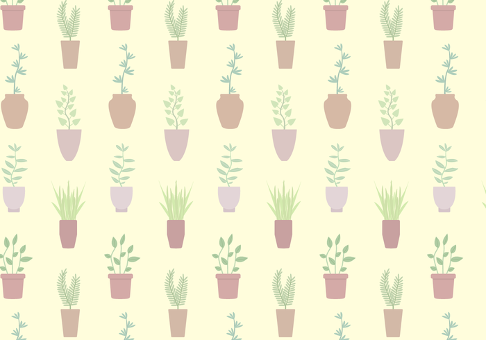 Free Potted Plant Pattern Vector