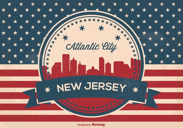 Atlantic Skyline Vector Illustration