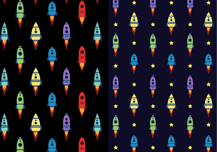 Free Spaceship Pattern Vector