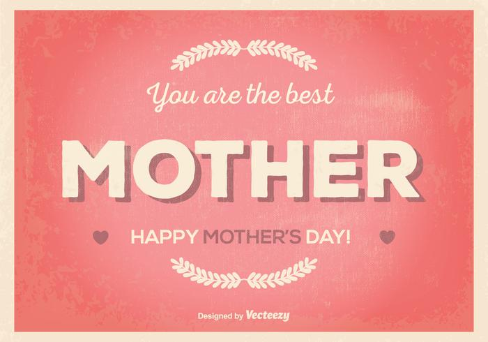 Retro Mother's Day Illustration vector