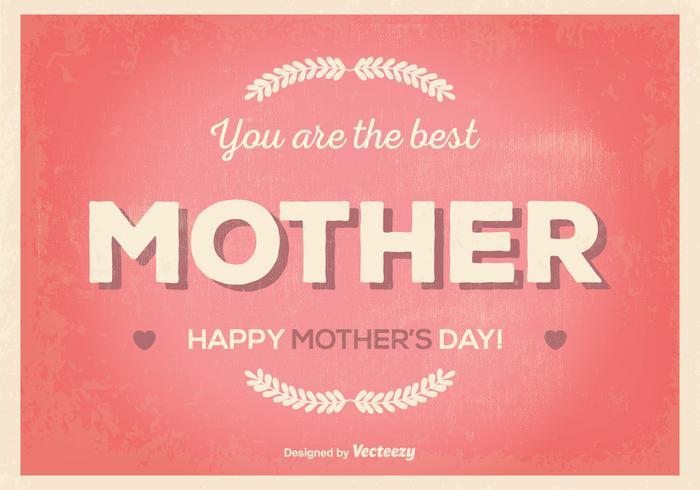 Retro Mother's Day Illustration