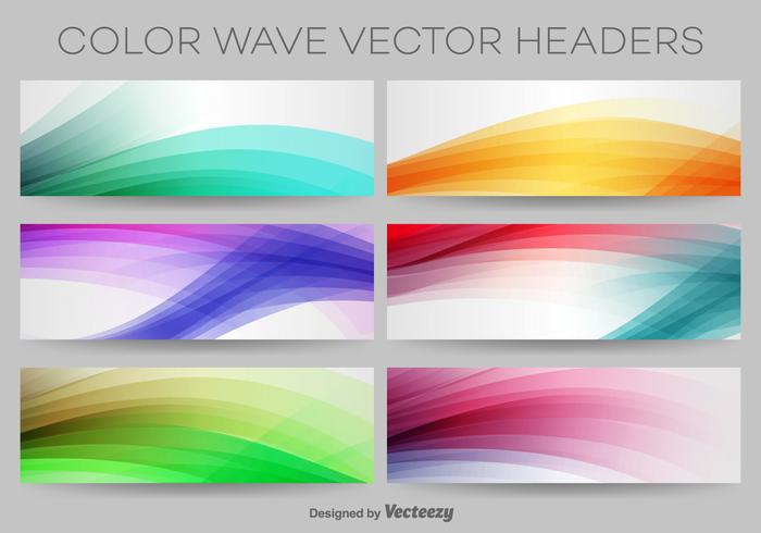 Colourful Wave Vector Headers