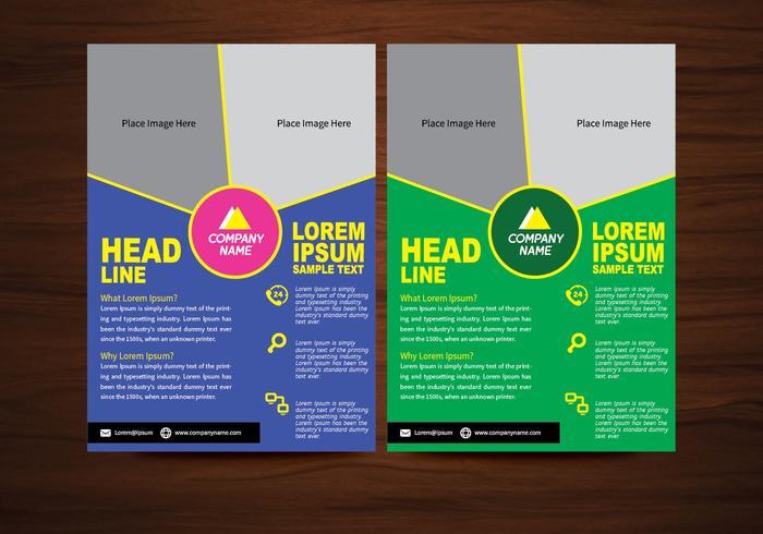 Vector Brochure Flyer ontwerp Lay-out sjabloon in A4 formaat
