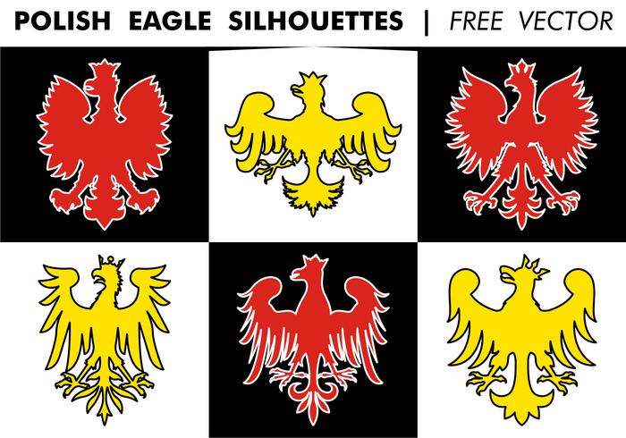 Polonais Eagle Silhouettes Free Vector