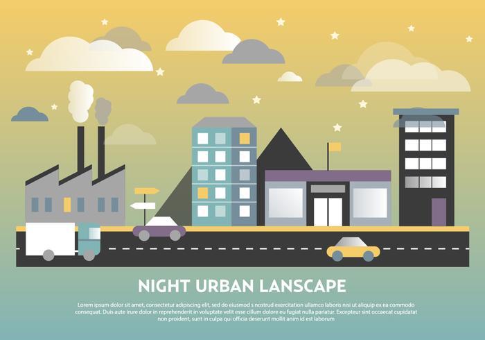 Free Flat Urban Landscape Vector Background