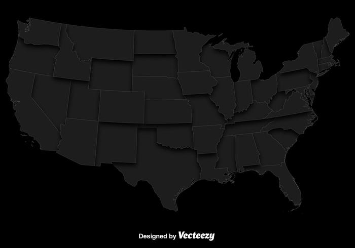 Vector Gray Map Of The USA