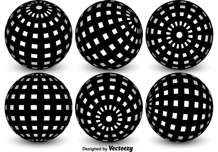 Vector Spheres With Globe Grid