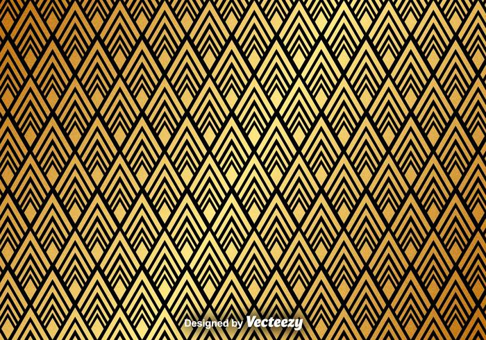 Golden Abstract Pattern Vector Background