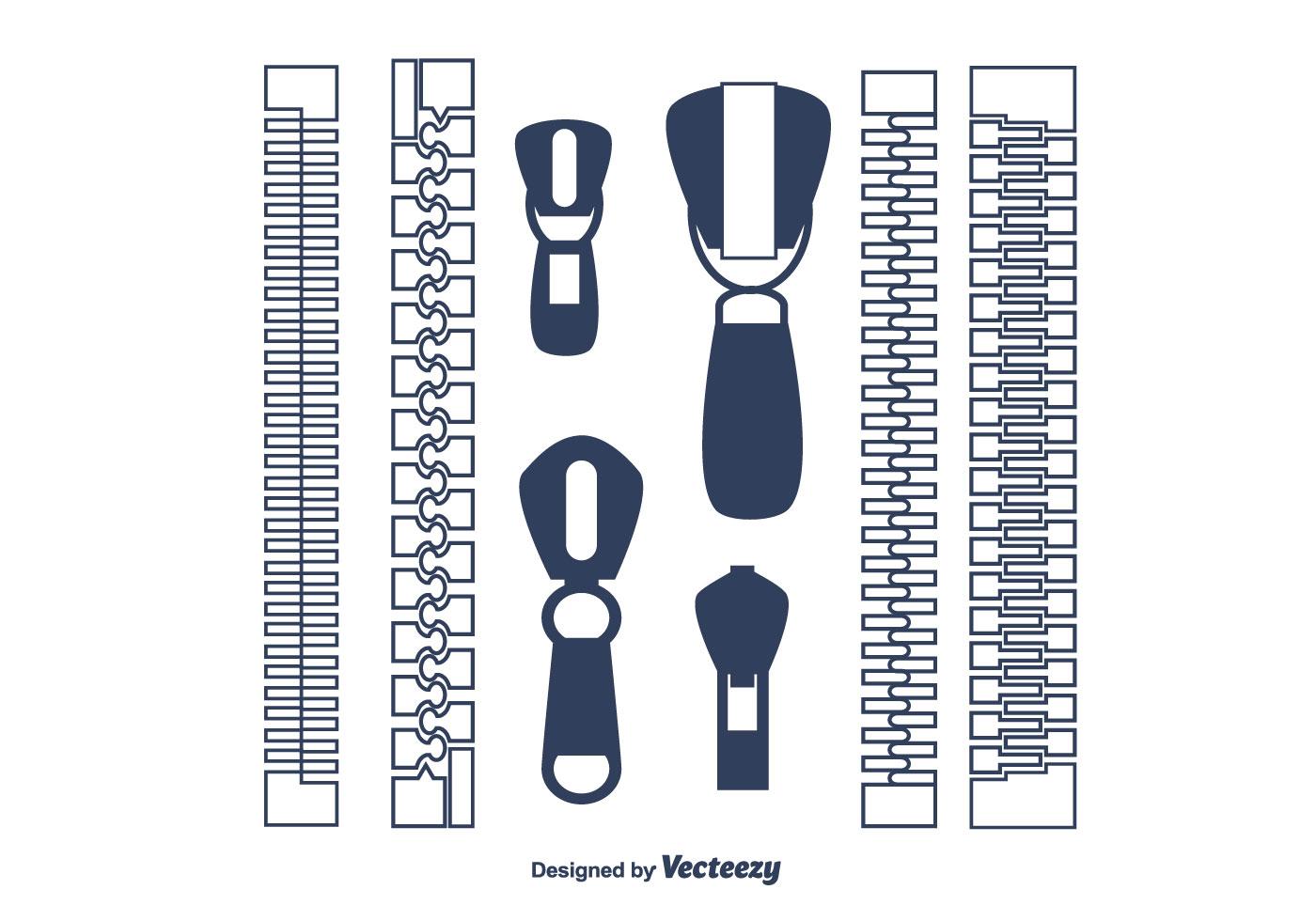 zipper pull vector