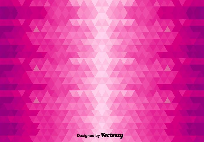 Abstract Vector Background With Pink Triangles
