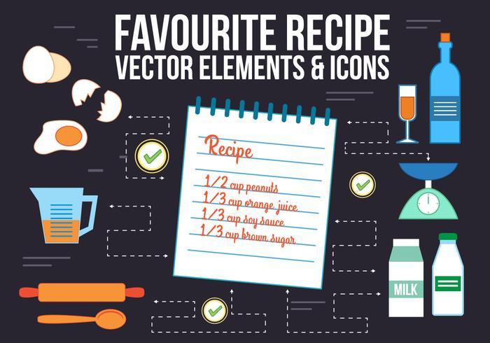 Icônes gratuites de vecteur de recette