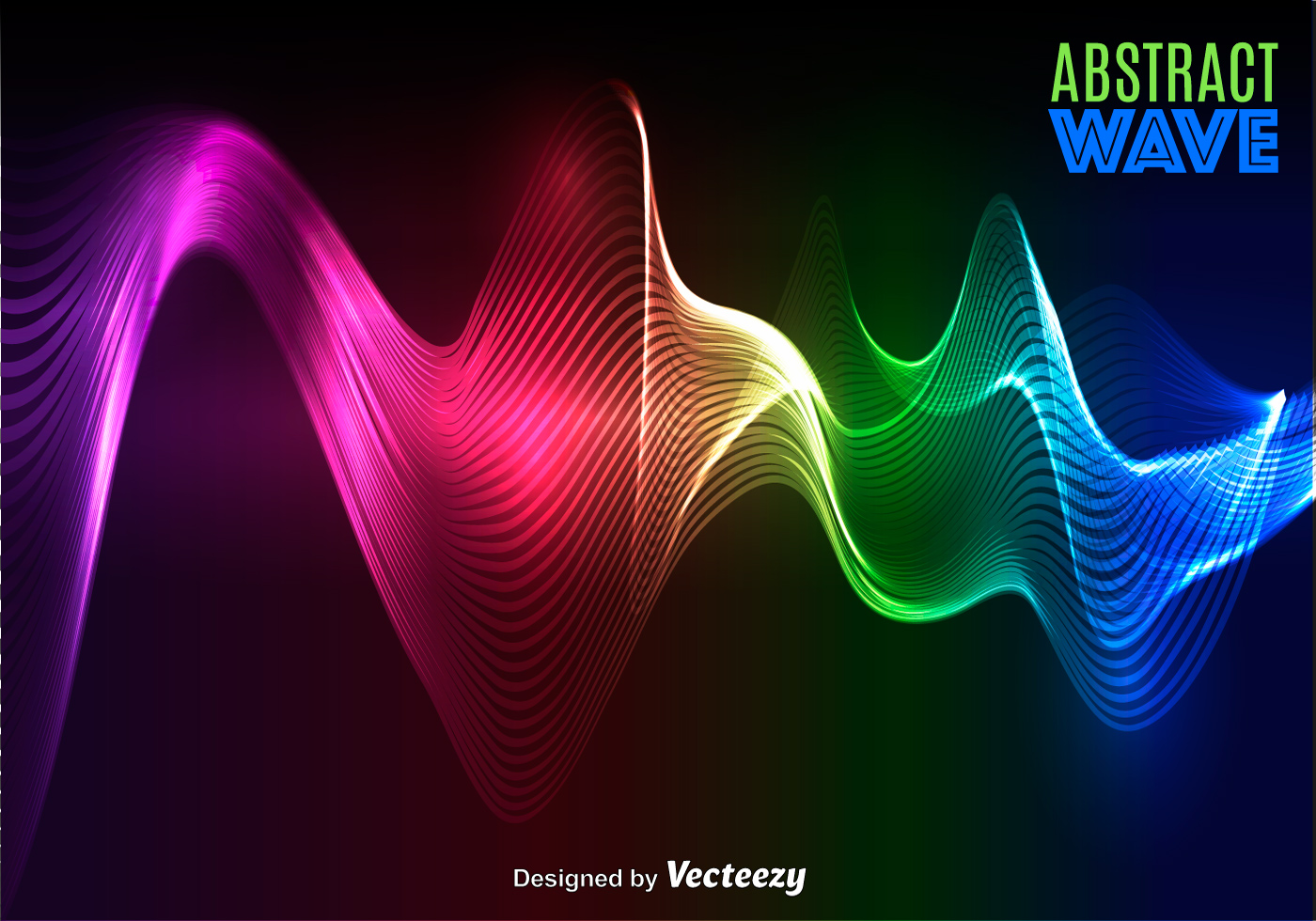 Vector Abstract Colorful Wave Download Free Art