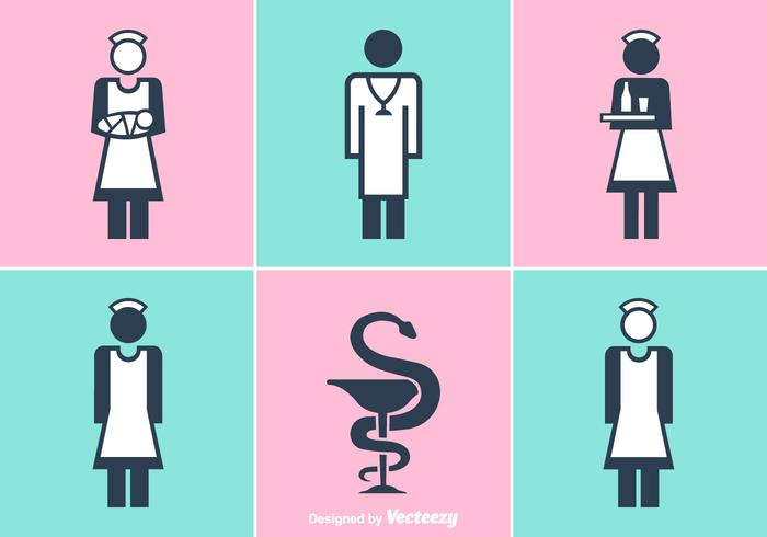 Free Nurse And Doctor Vector Icons