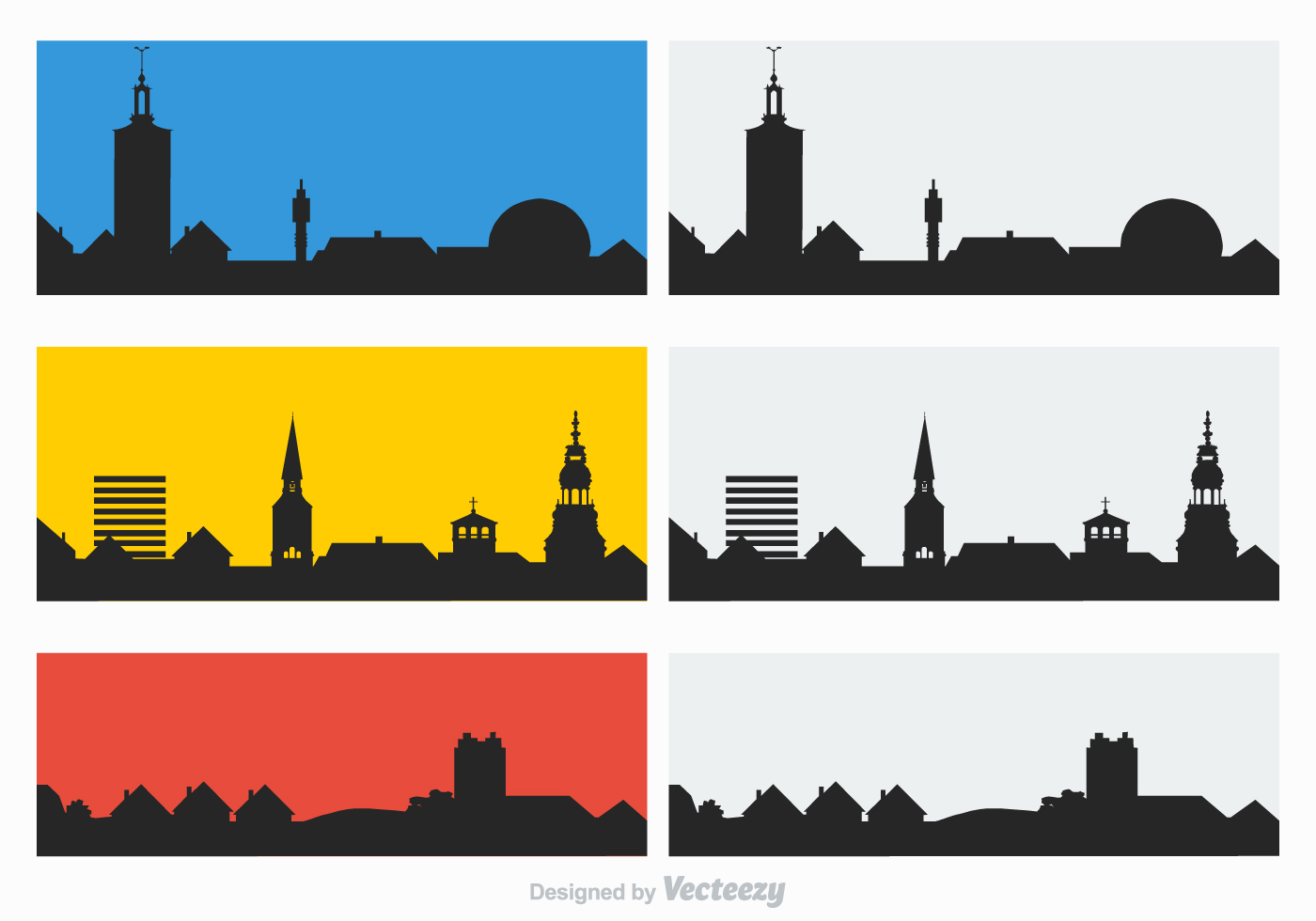 Free Rooftops Silhouette Vector Download Free Vector Art