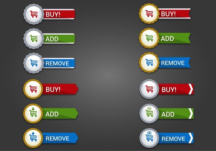 Libre Web Botones Set 16 Vector