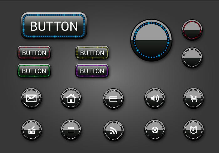 Free Web Buttons Set 08 Vector