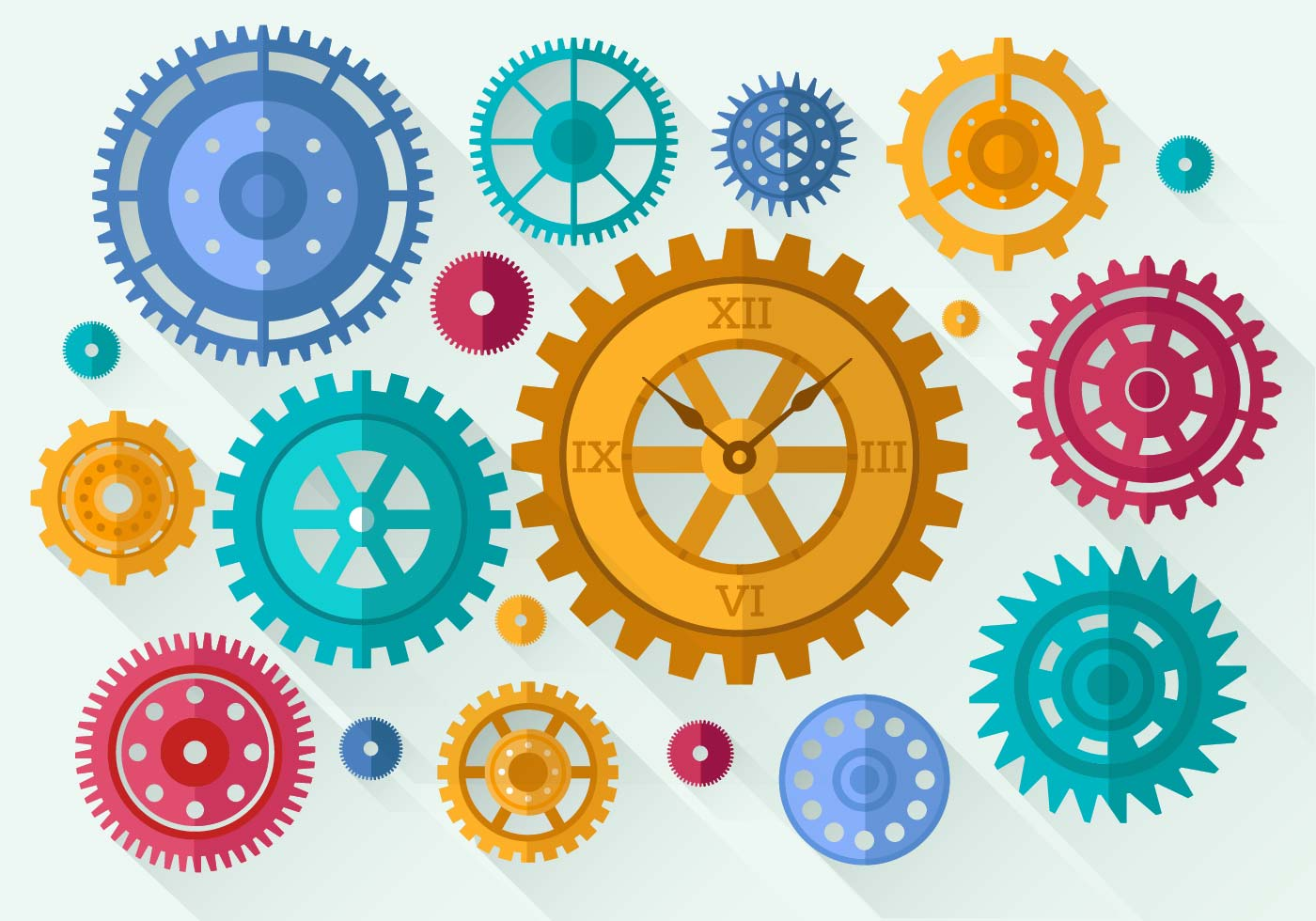 Free Clock Parts Vector Download Free Vector Art Stock