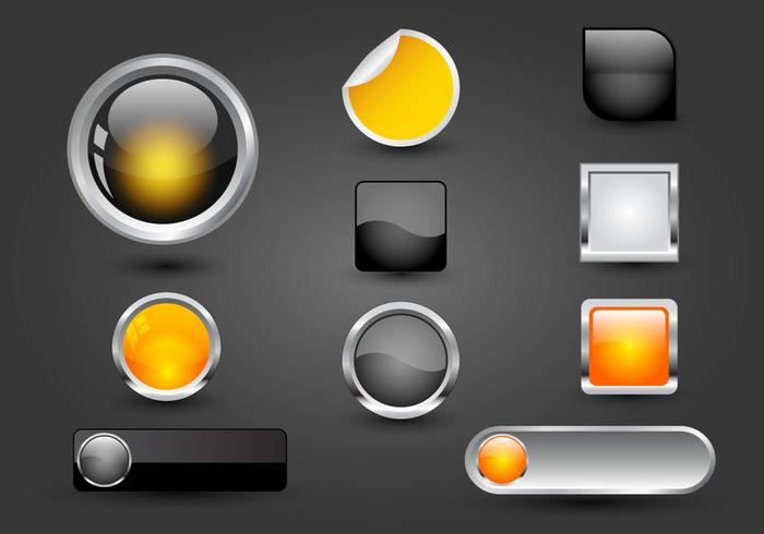 Botones de web gratis Set 05 Vector