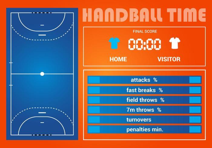 Gratis Handbal Game Statistiek Vector