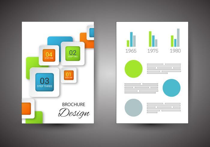 Gratis Broschyr Design Vector