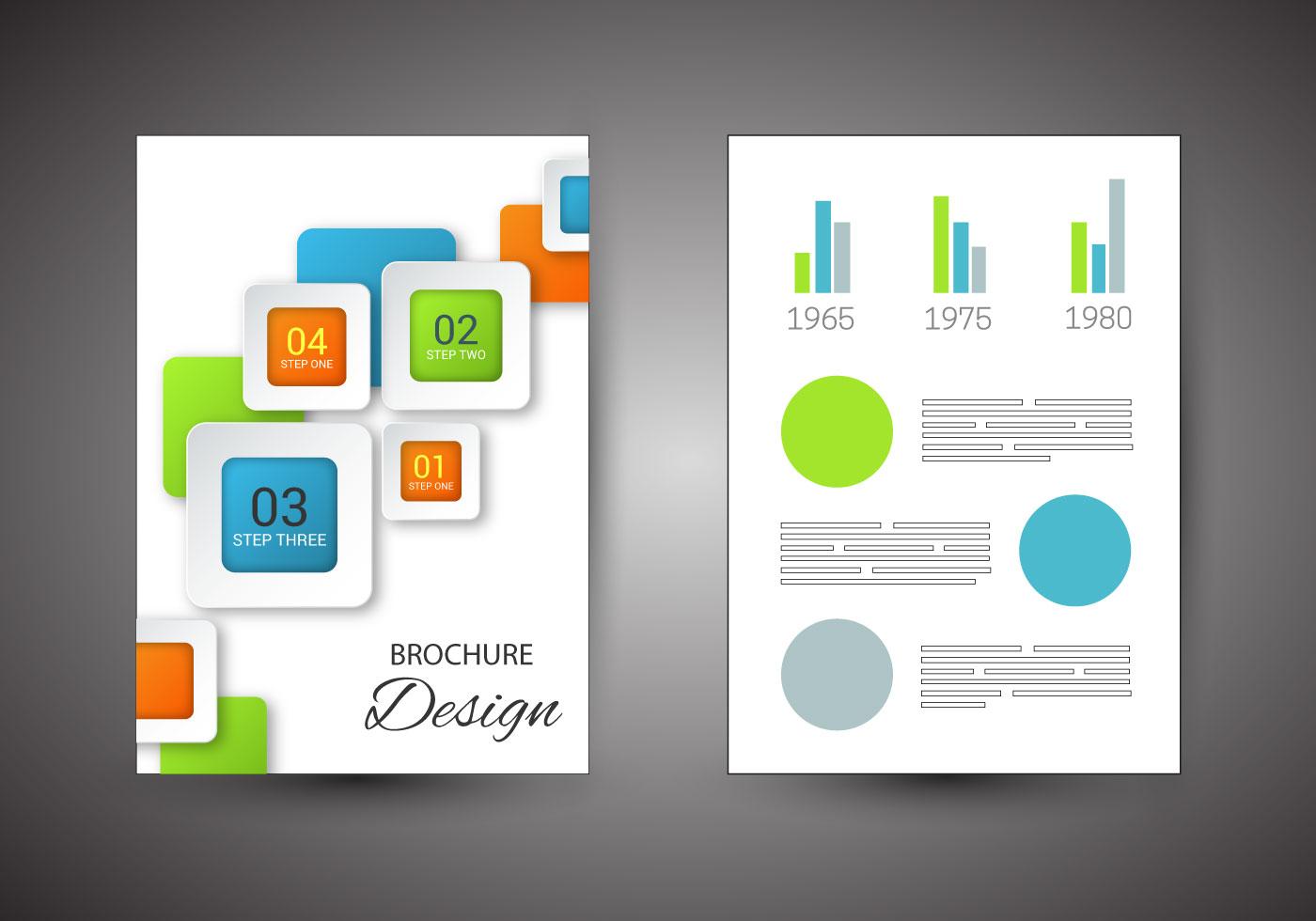 Free Brochure Design Vector   Download Free Vector Art, Stock Graphics U0026  Images  Free Pamphlet Design