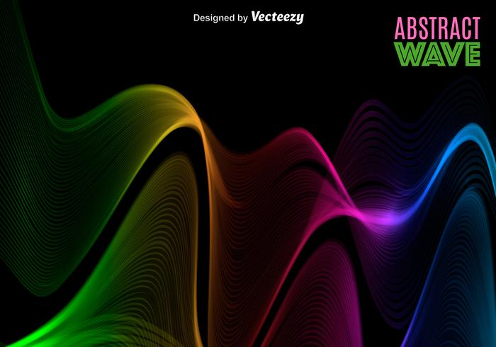 Vector Abstract Colorful Spectrum/Wave