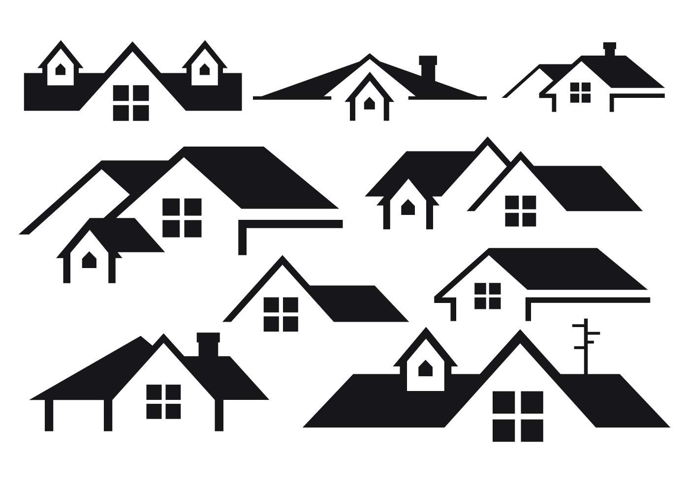Free Rooftops Vector Download Free Vector Art Stock