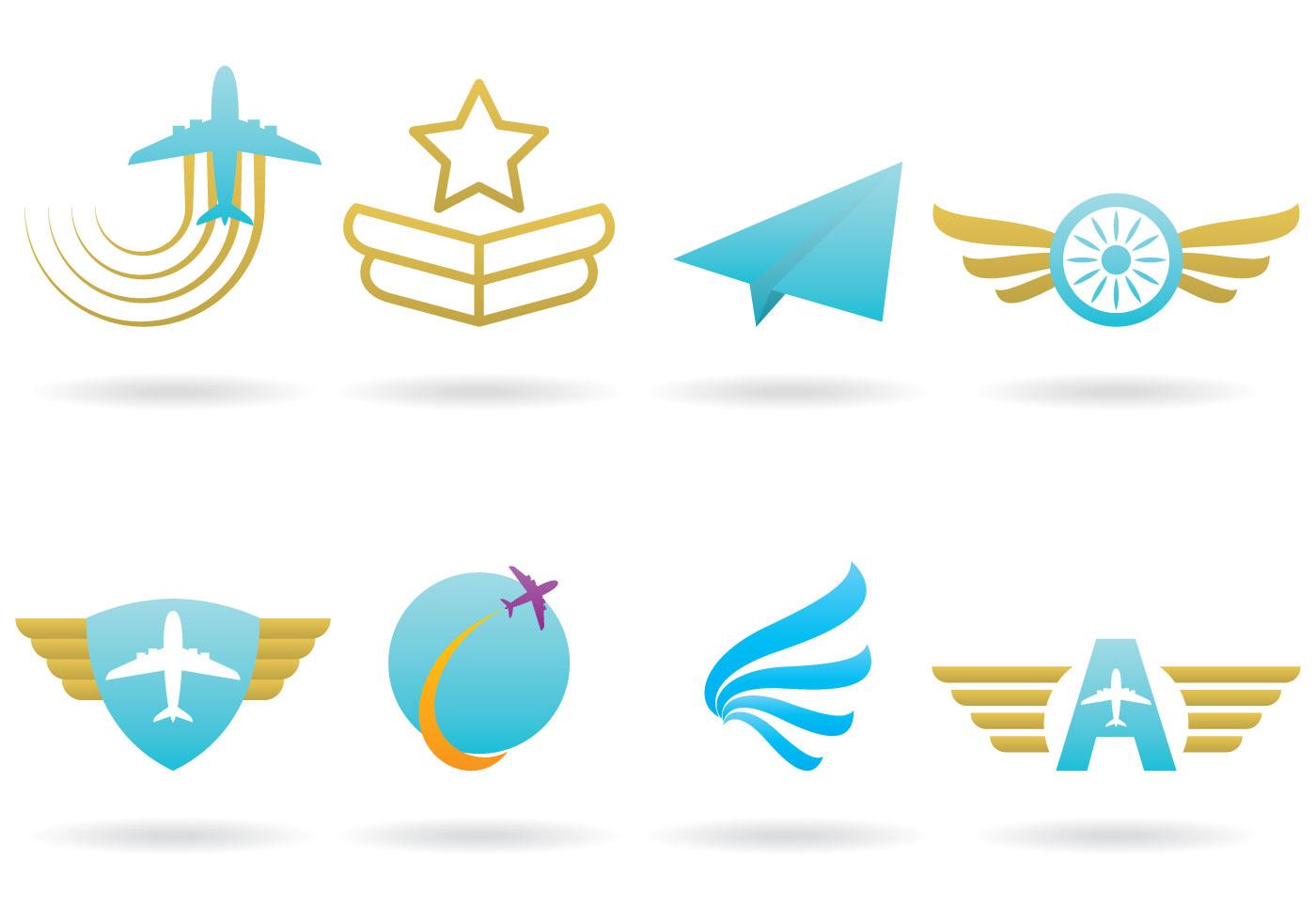 Airplane logos download free vector art stock graphics for Design logo gratis