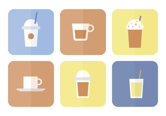Coffee Flat Icon Set vector