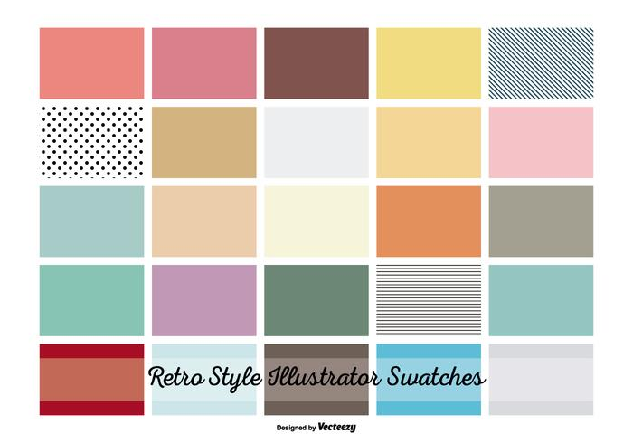 Vintage Retro Illustrator Swatches vektor