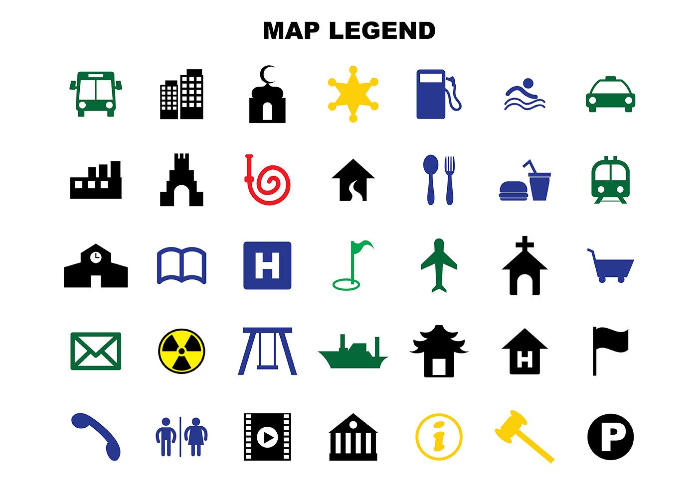 Map Legend Symbols Free Vector Art 26 Free Downloads