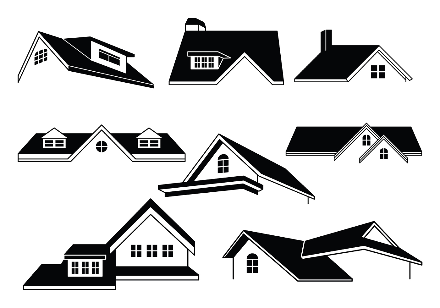 111401 Free Rooftop Vectors on Insurance Card Clip Art