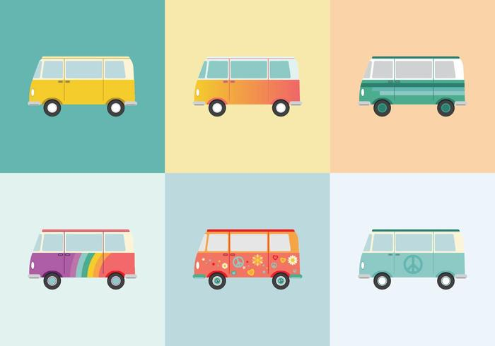 Free Hippie Bus Vectors