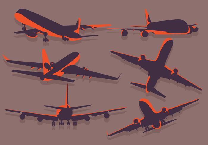 Avion Silhouette vector