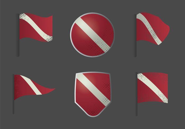 Free Dive Flag Vector Illustration