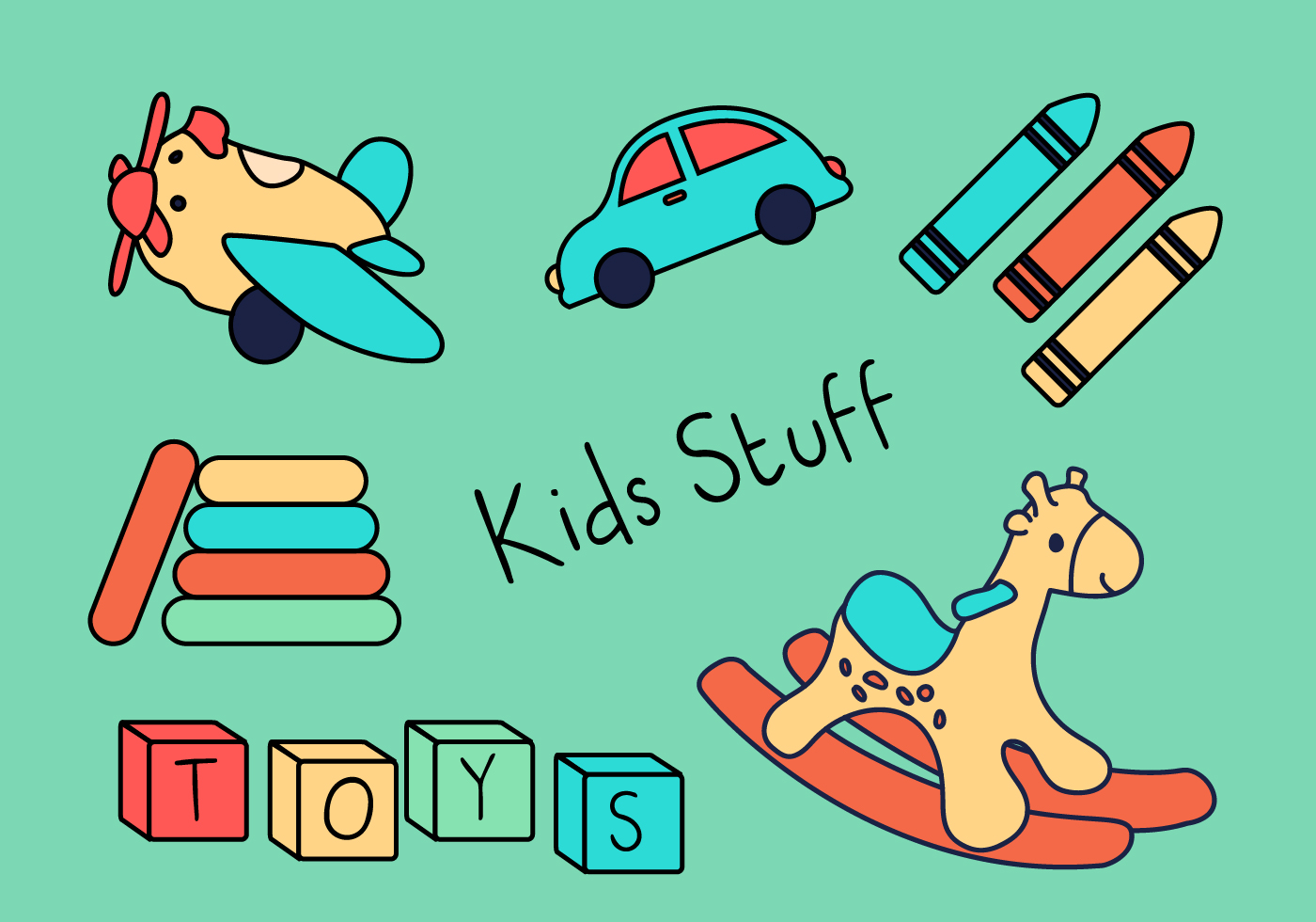 Toys for Kids - Download Free Vectors, Clipart Graphics ...