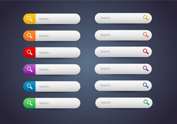 Libre Web Botones Set 10 Vector
